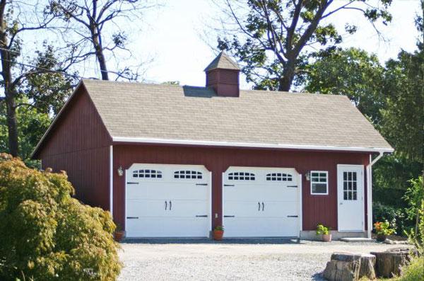 how big is an average 2 car garage 0
