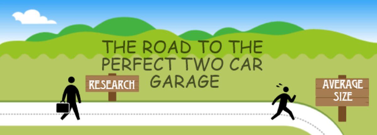 how big is an average 2 car garage
