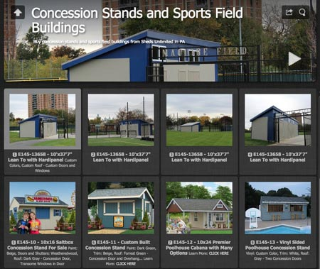 concession stands sports buildings ideas