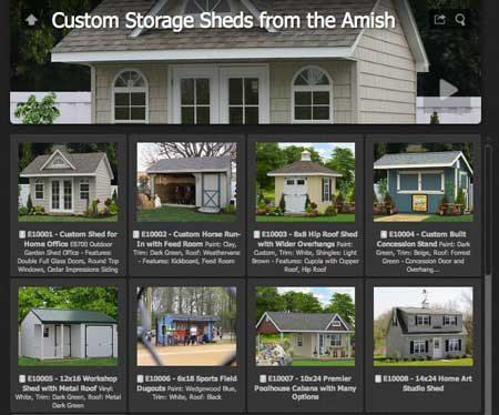 custom shed ideas amish