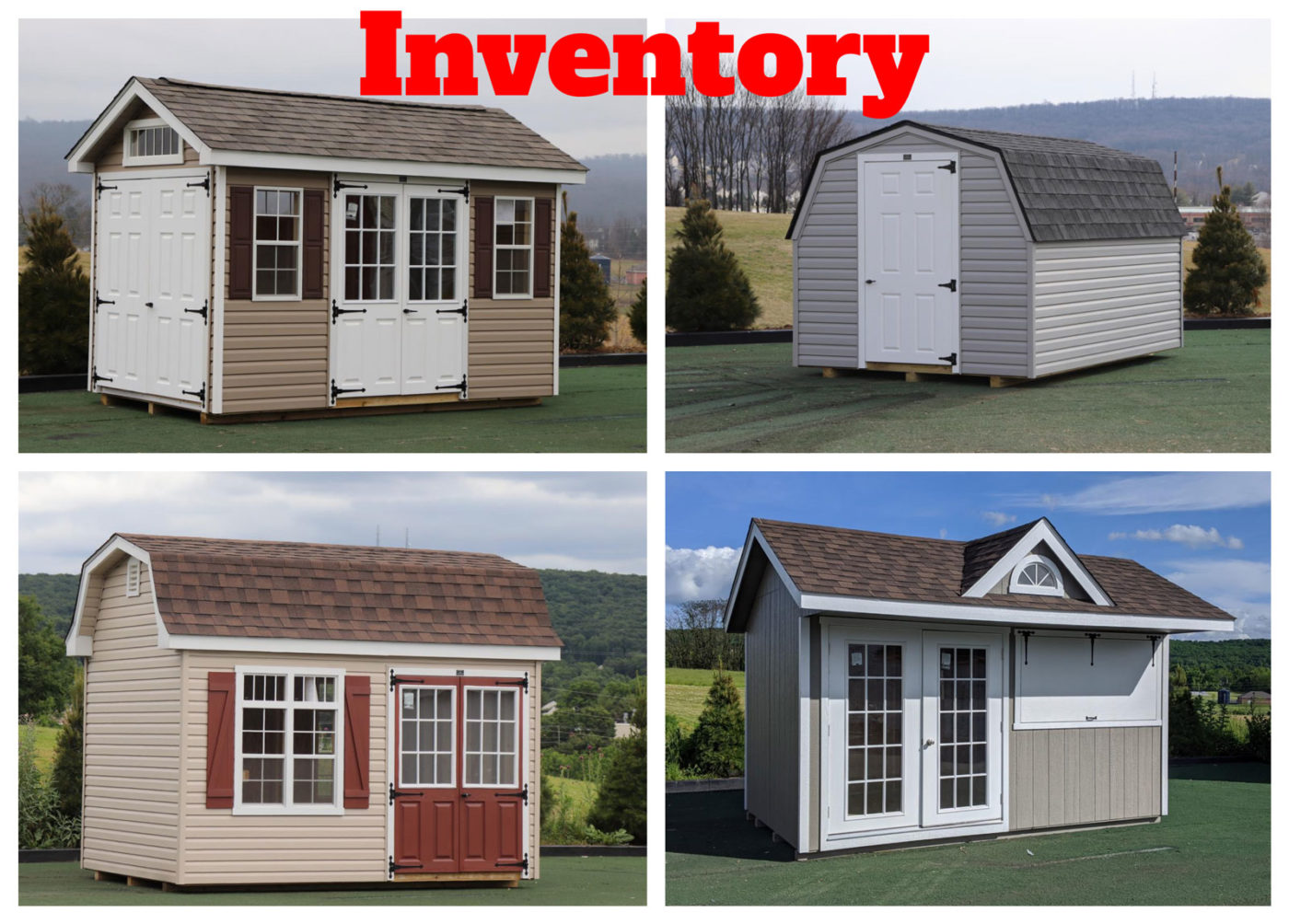 small storage sheds inventory