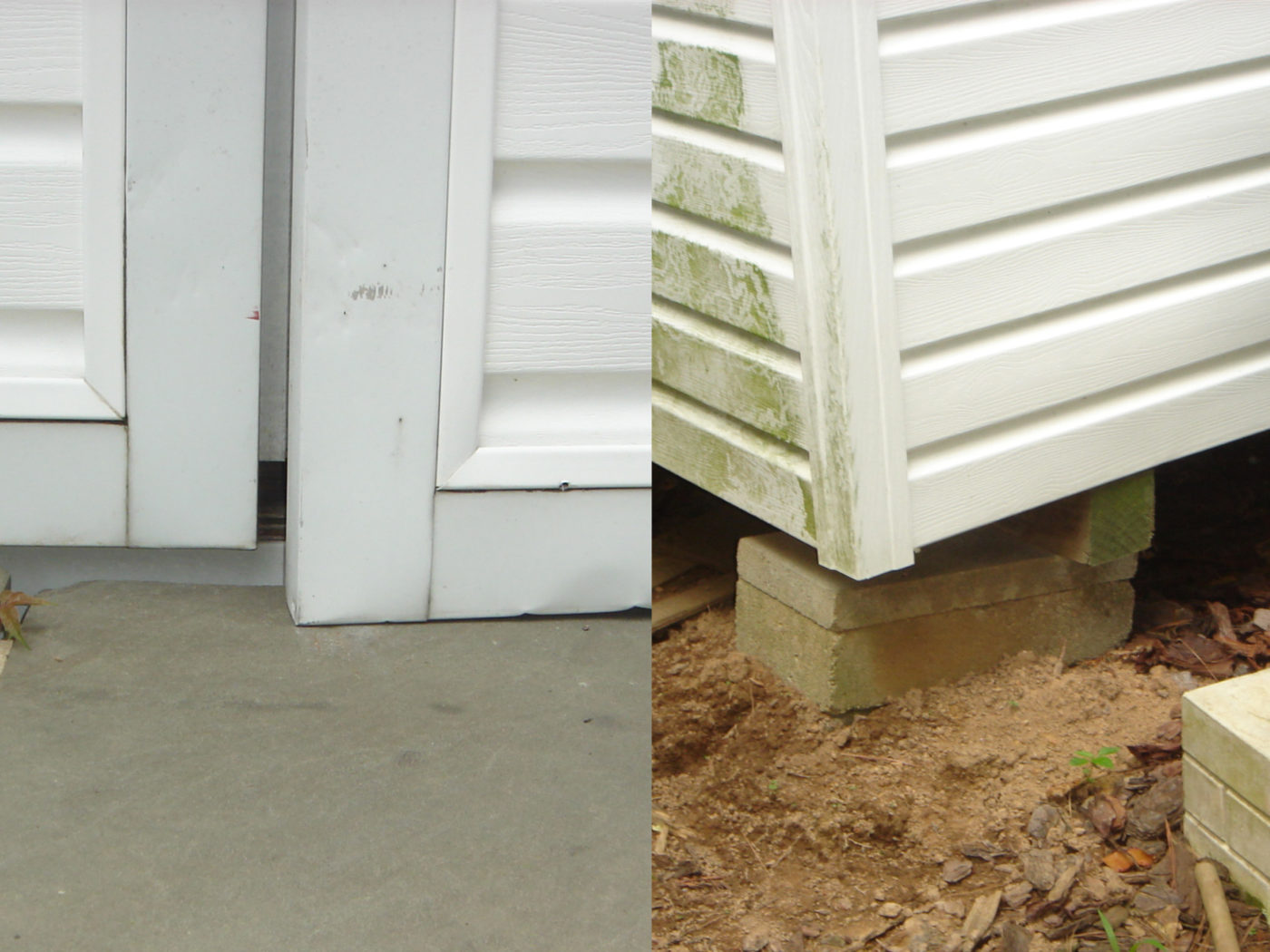 why not to put a shed on concrete blocks
