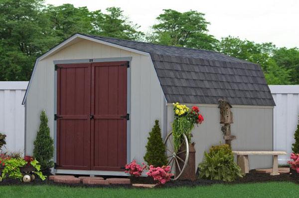 10x14 economy storage shed 0