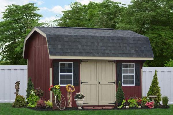 10x14 gambrel barn sheds 0