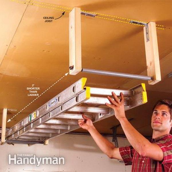 ladder hanger for 10x14 shed