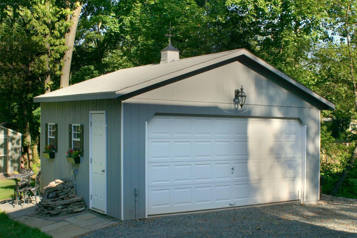 20x20 affordable detached garage 1