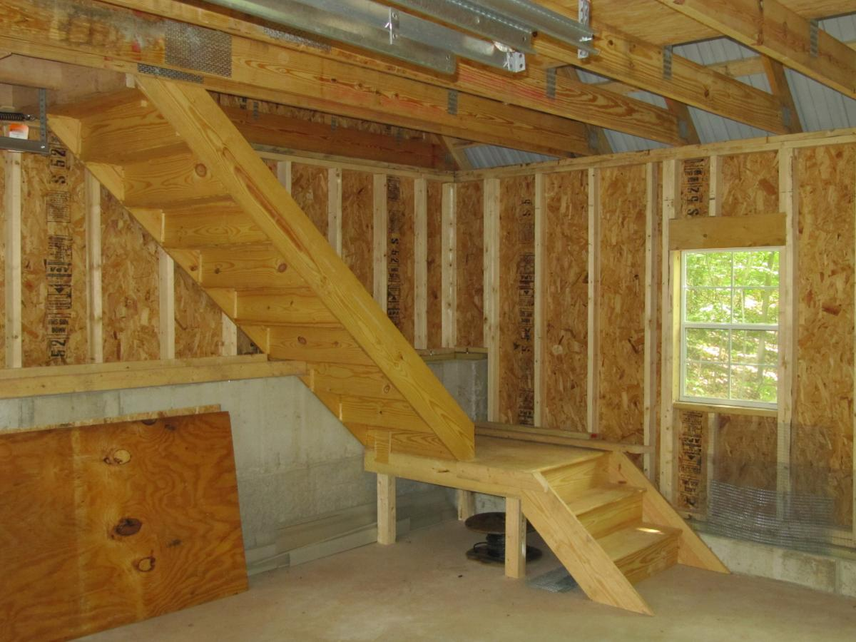 20x20 garage with attic space pa