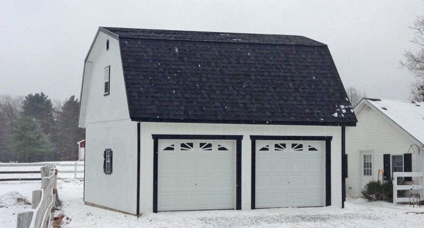 24x24 prefab two car garage