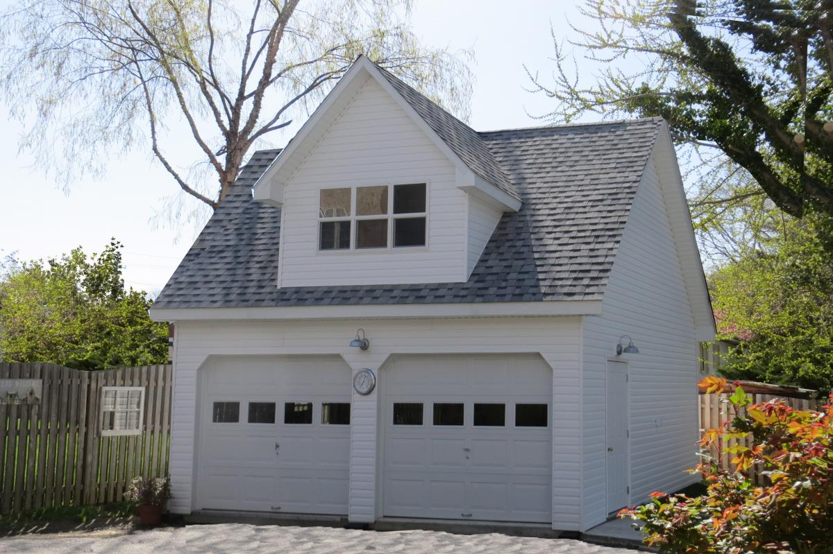 two story 20x20 garage
