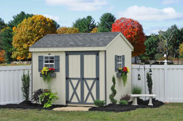 8x10 wooden storage shed 0