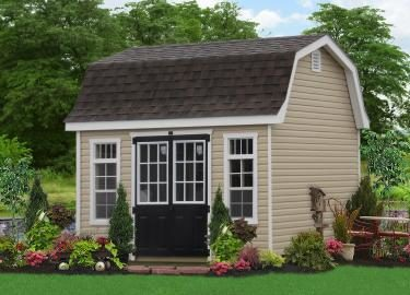 10x14 upscale woodn and vinyl sheds