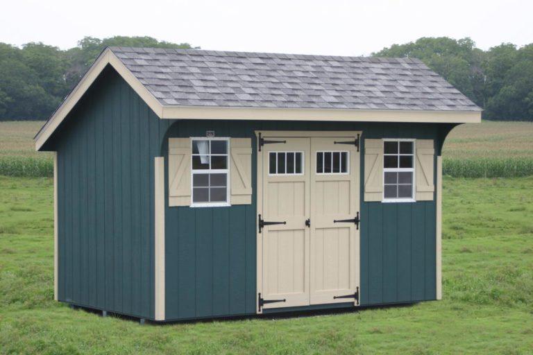 wooden saltbox storage sheds