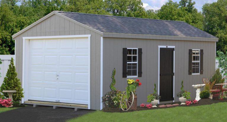 amish built portable garage 1