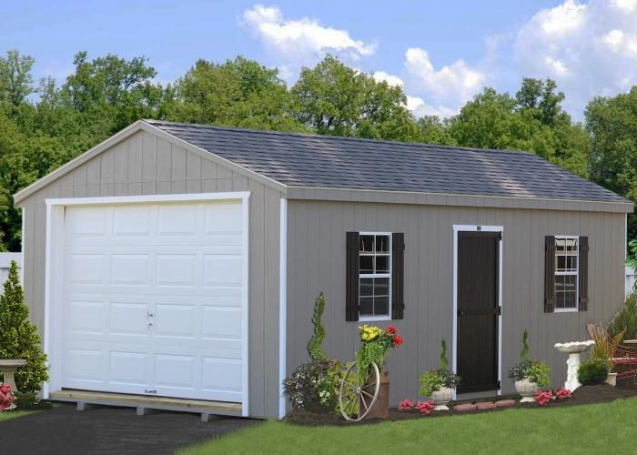 amish built portable garage 2
