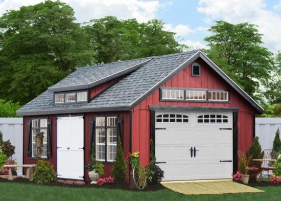 amish built single car garage