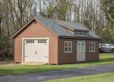16x30 single car garage