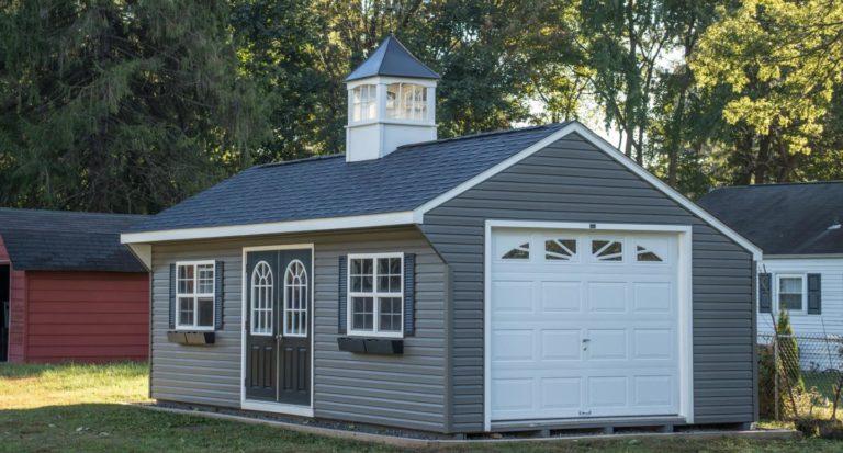 saltbox single car garage for sale