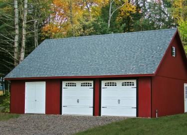 24x40 2 car garage with attic space