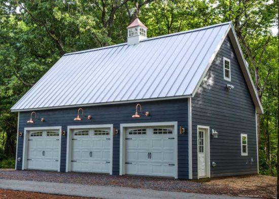 three car two story garage