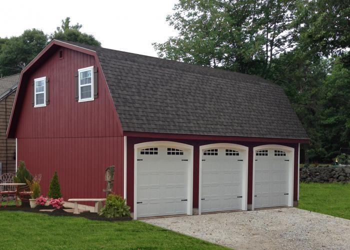 detached attic three car garage ct