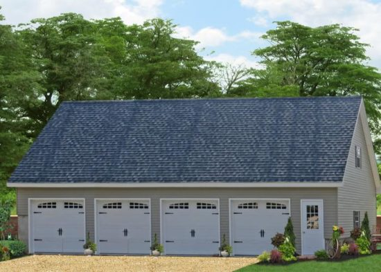 four car garage with living space