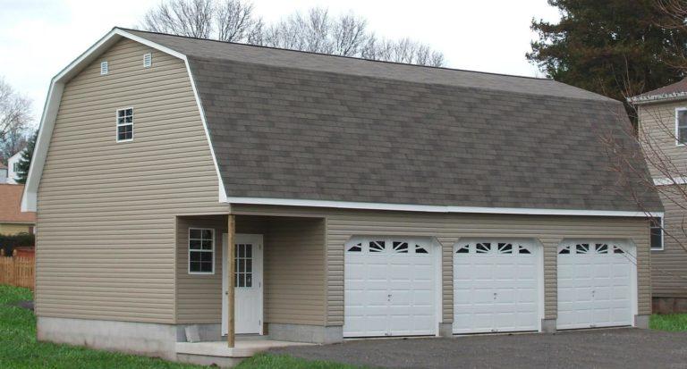 prefab four car garage