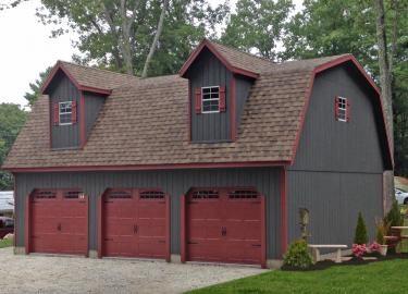 buy a detached 4 car garage attic 1