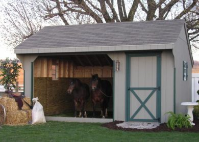 equine shelter with tack room nj