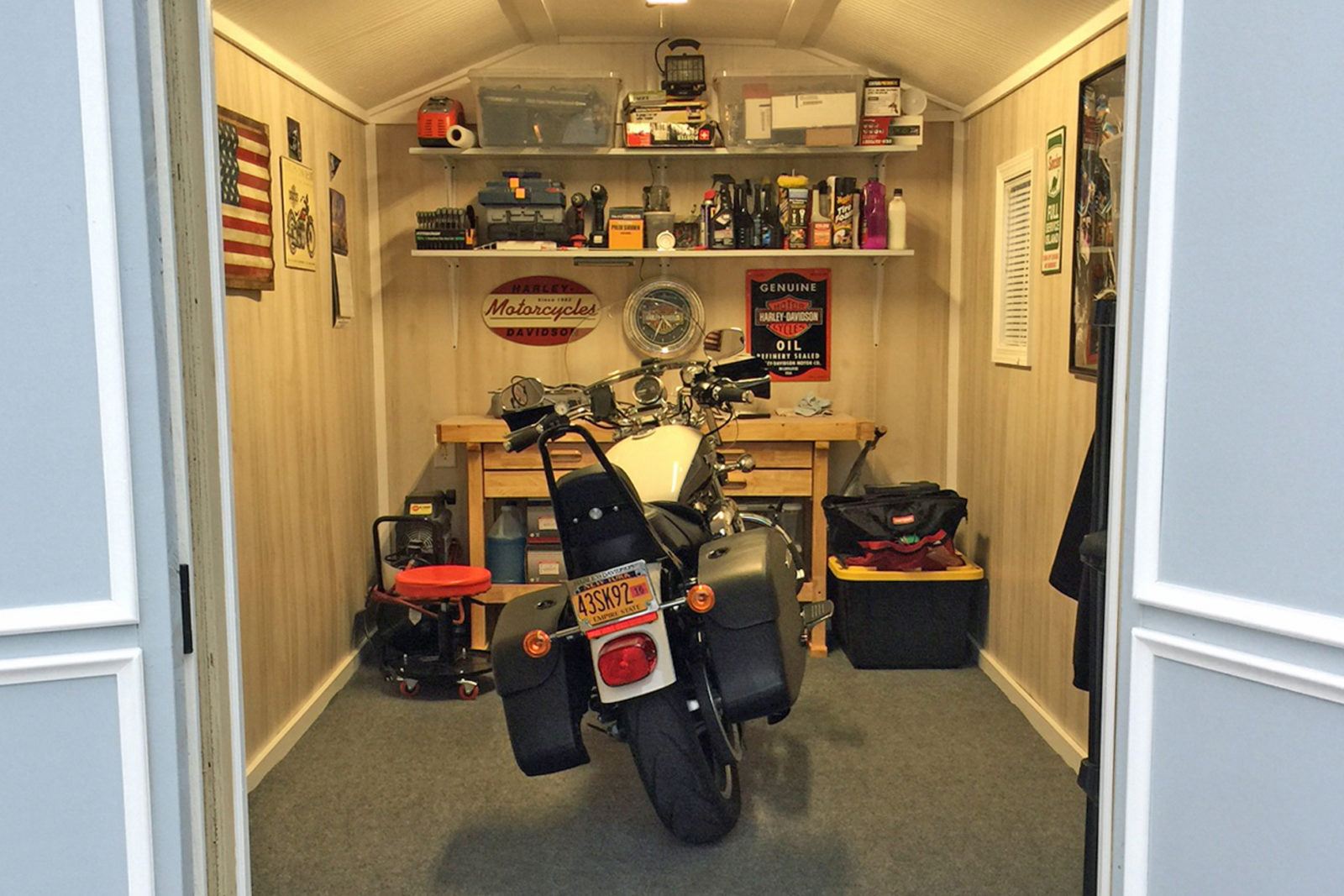 man cave motorcycle shed pa