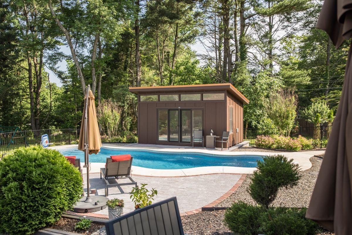 modern poolhouse sheds
