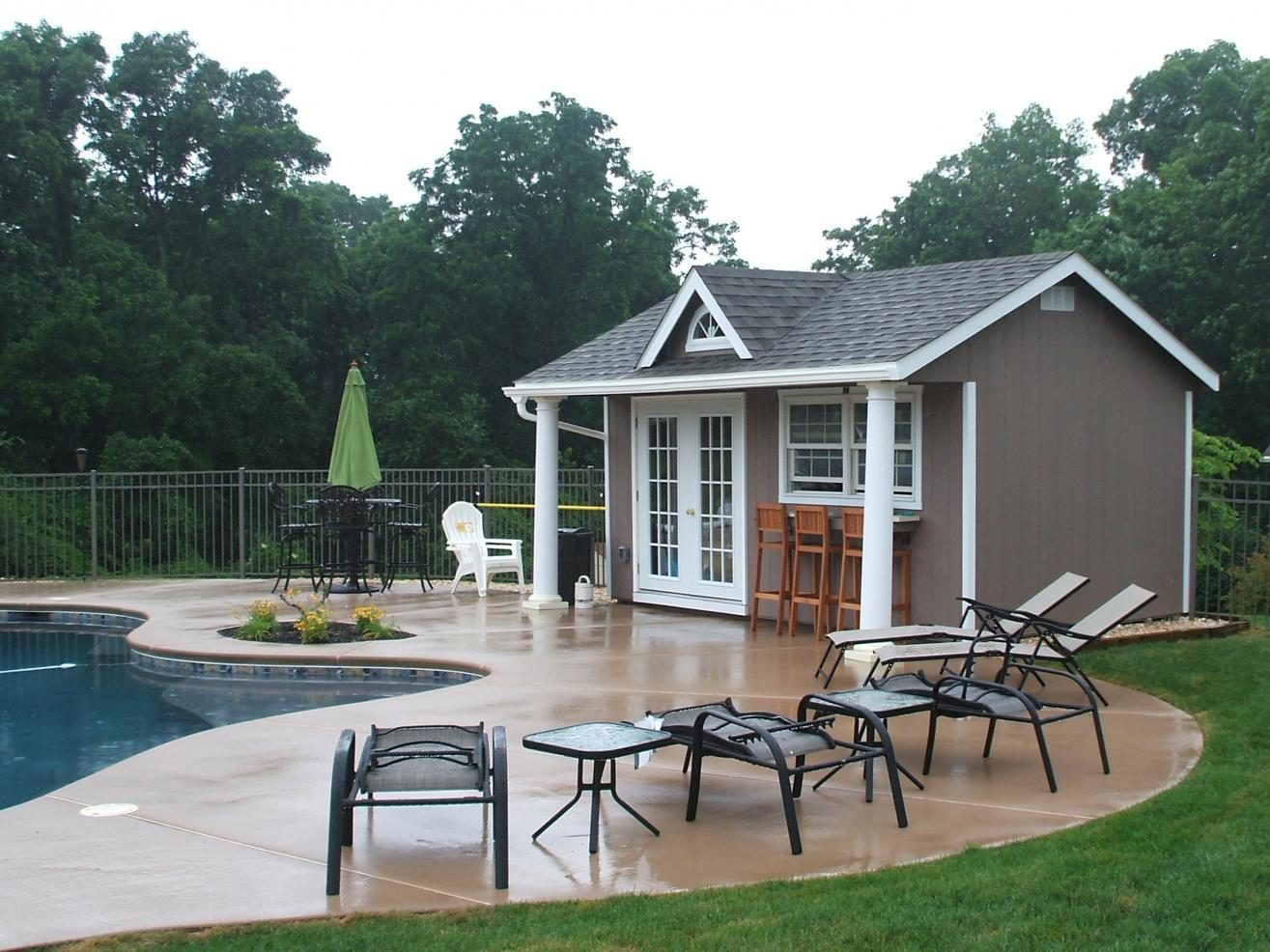 swimming pool house shed ny