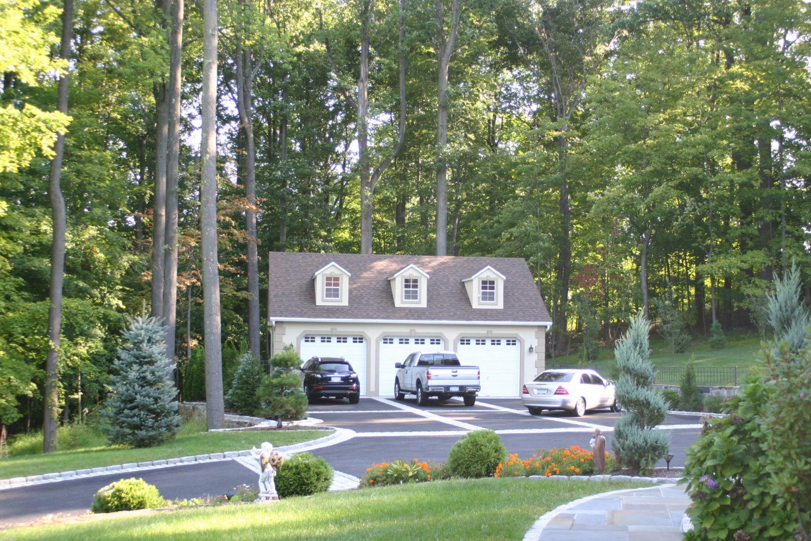 custom three car garage