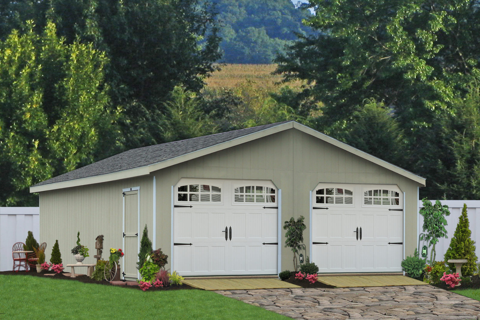 prefabricated car garages