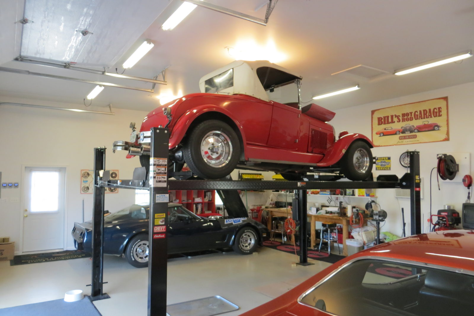 with lift space prefab car garage