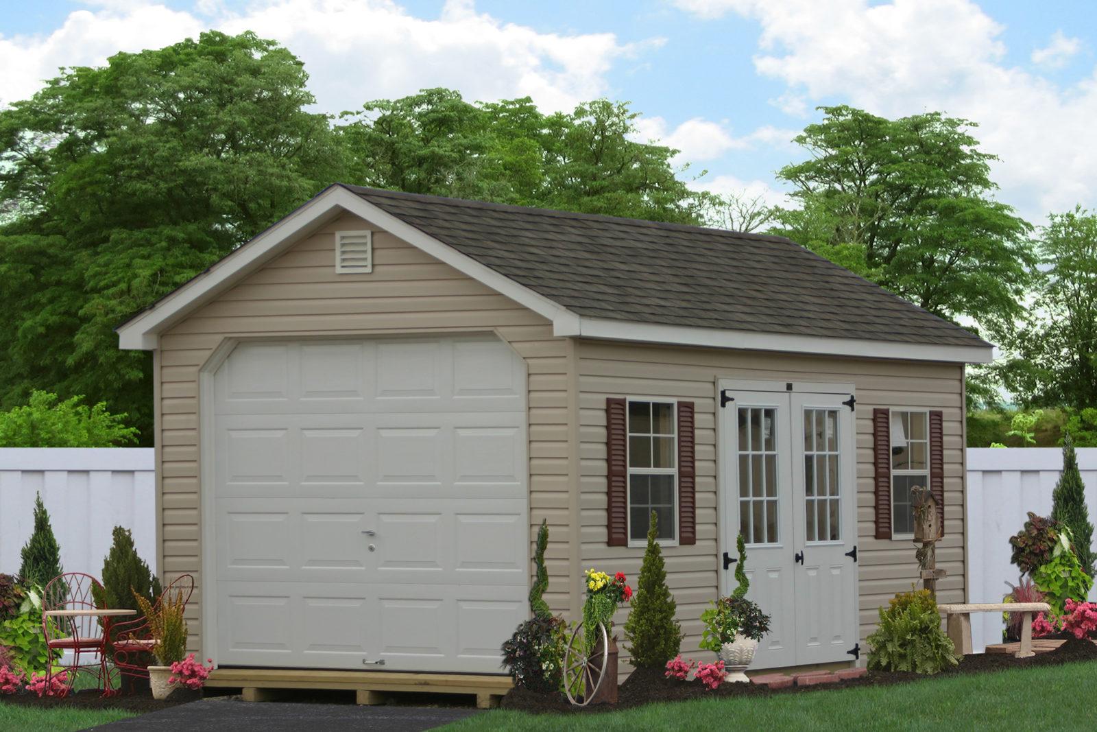 amish one story garage