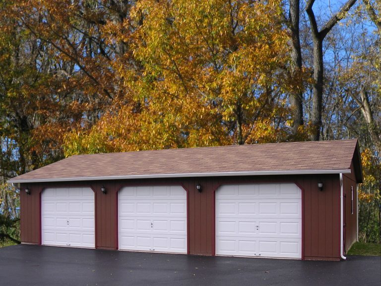 economy three car garages