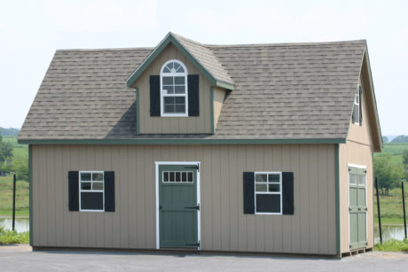 buy two story shed design with dormer