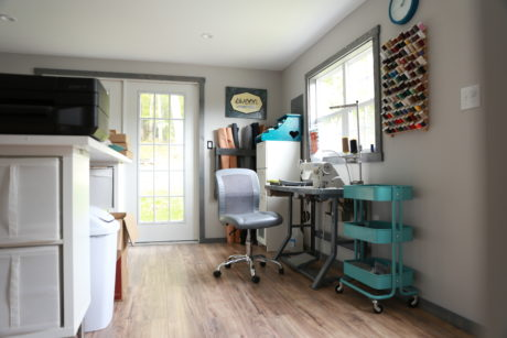 design studio in a two story shed design