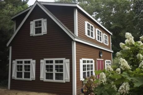 two story shed living space