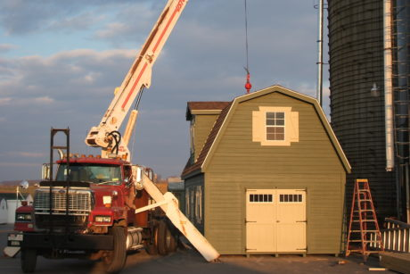 buy modular two story shed