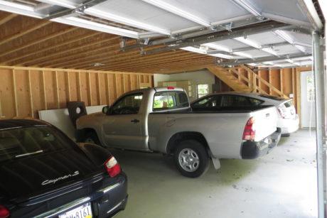 four car garage interior