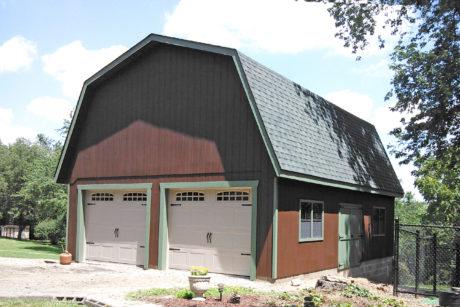 four car two story barn garage