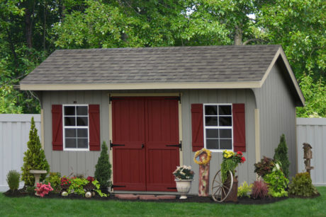 10x14 wooden shed painted