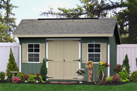 buy a painted utility shed in de