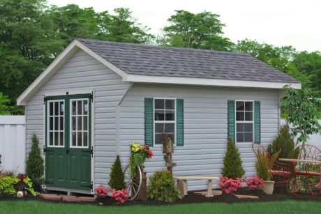 vinyl sided shed