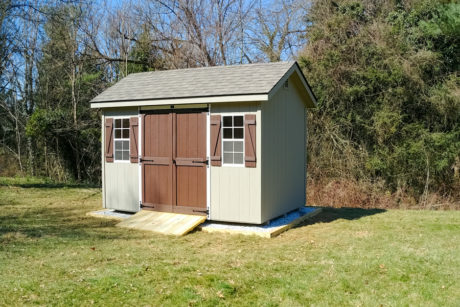 8x12 classic workshop storage shed with smart panel t111