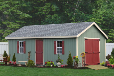 a shed amish built