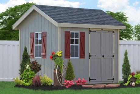 amish sheds built on site