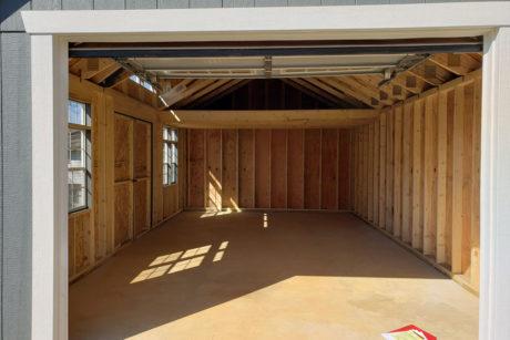 14x24 premier workshop one car garage interior