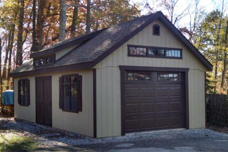 wooden vehicle garage